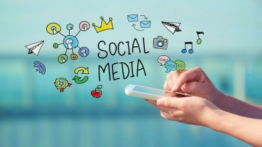 Social Media concept with smartphone