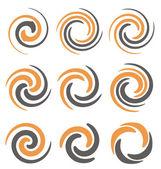 Spirála logo design koncepty a nápady