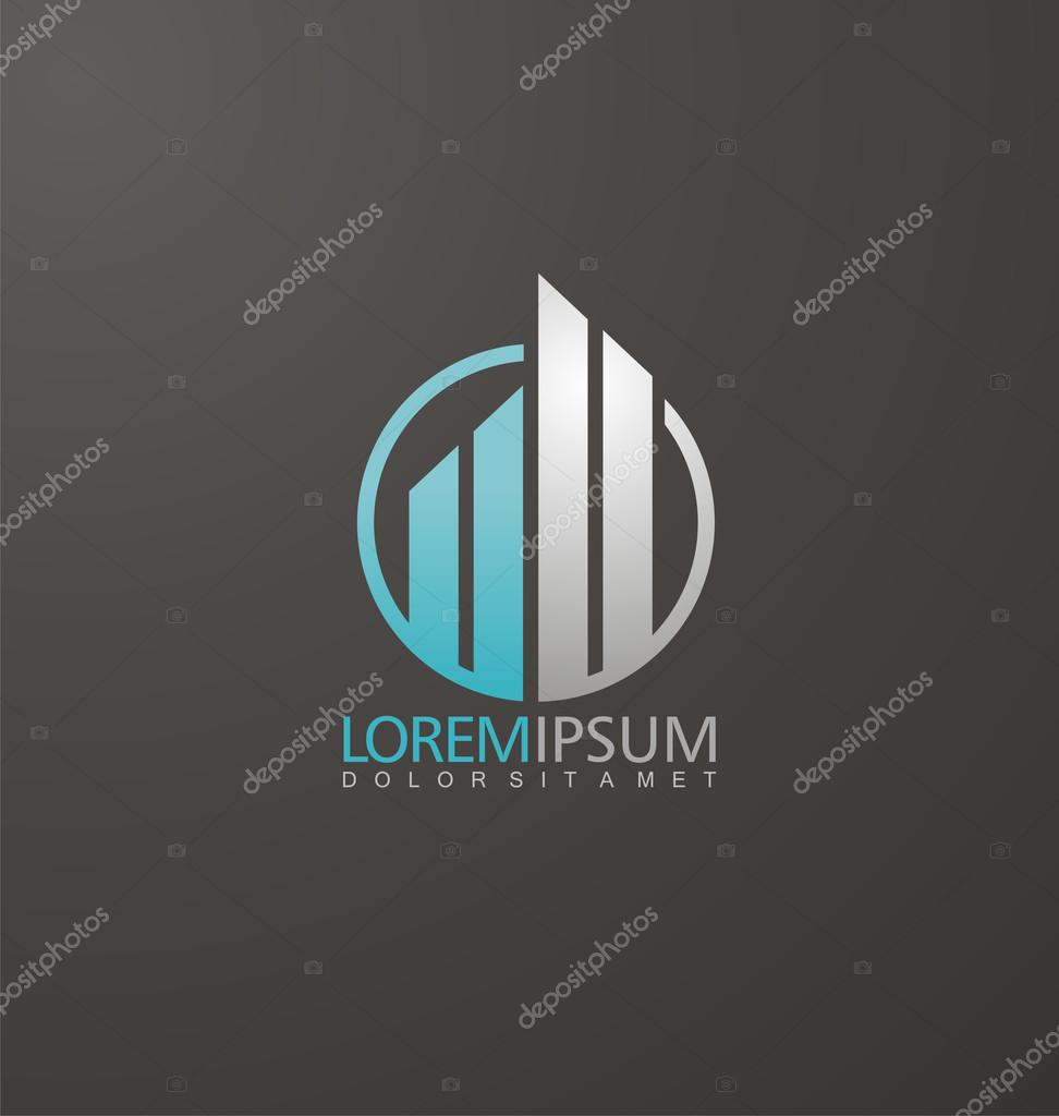 Vector concept for accounting or real estate company.
