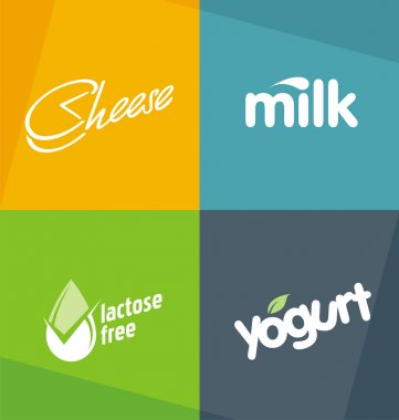 Dairy products logo designs templates
