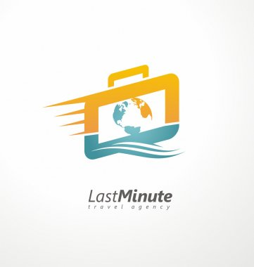Creative logo design concept for travel agency