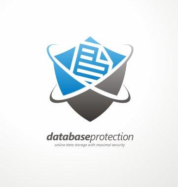 Data protection logo design concept
