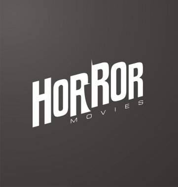 Creative and unique typography for horror movies website or blog with knife in negative space