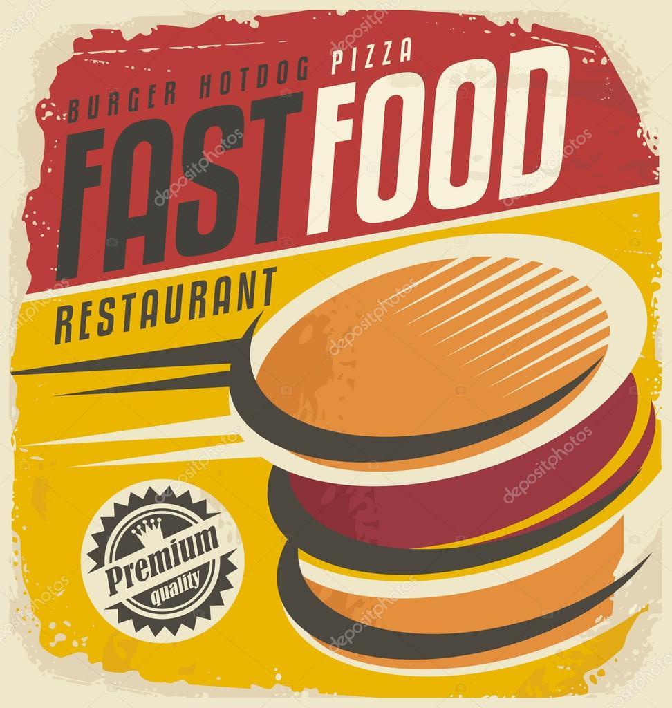 Retro fast food poster design — Stock Vector © lukeruk #76534037