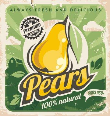 Retro pear poster