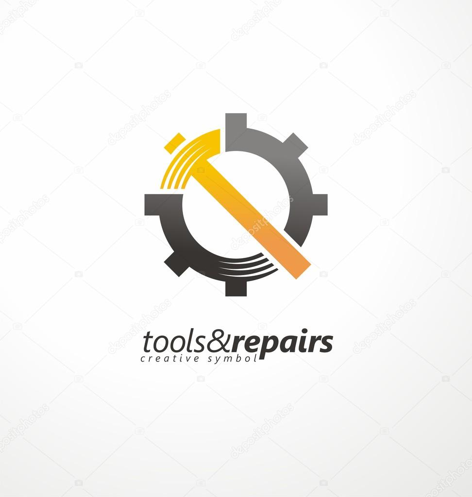 Industrial vector logo design concept