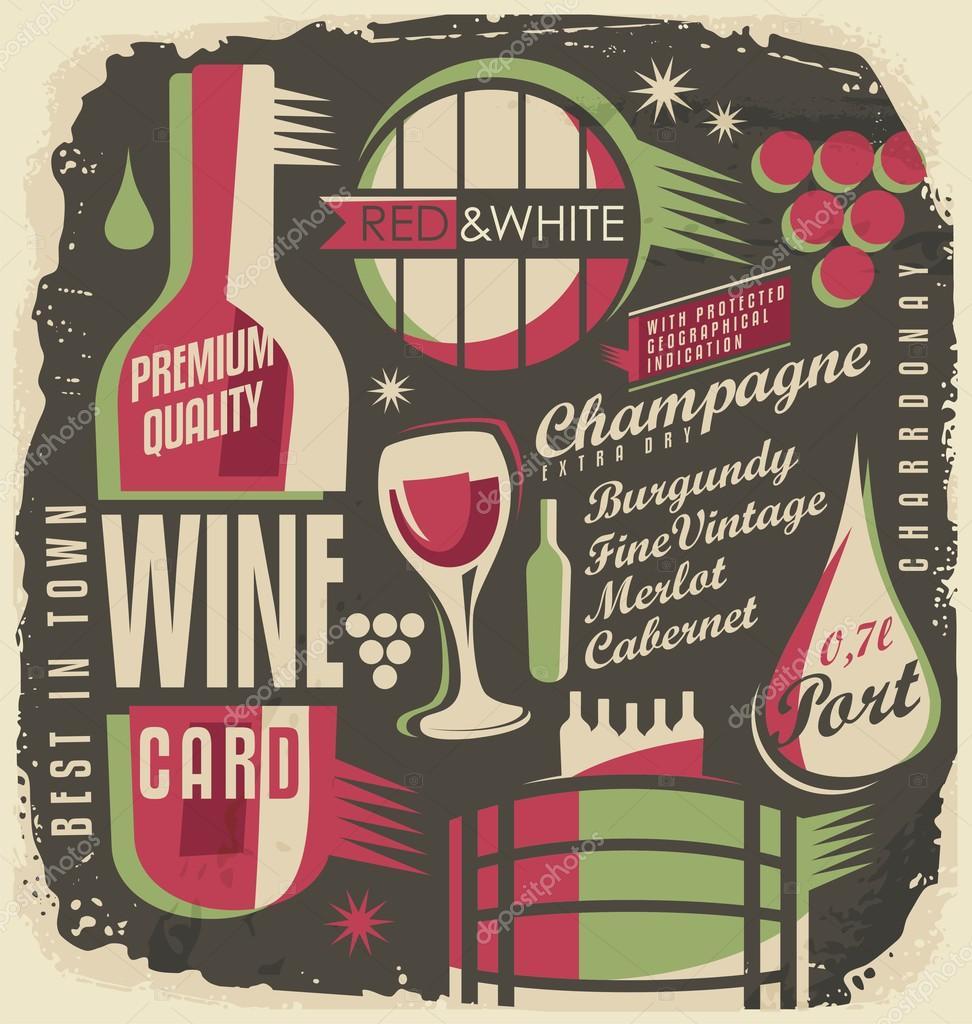 Concetto di design creativo e unico dei vini vettoriali for Concetto di design moderno bungalow