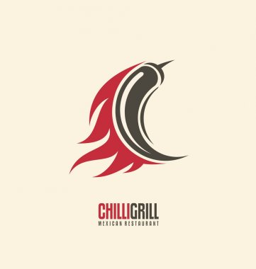Chili on fire creative logo design layout