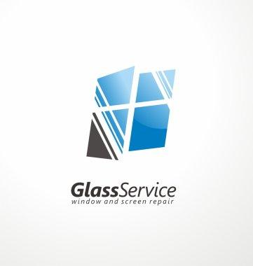 Glass service symbol layout