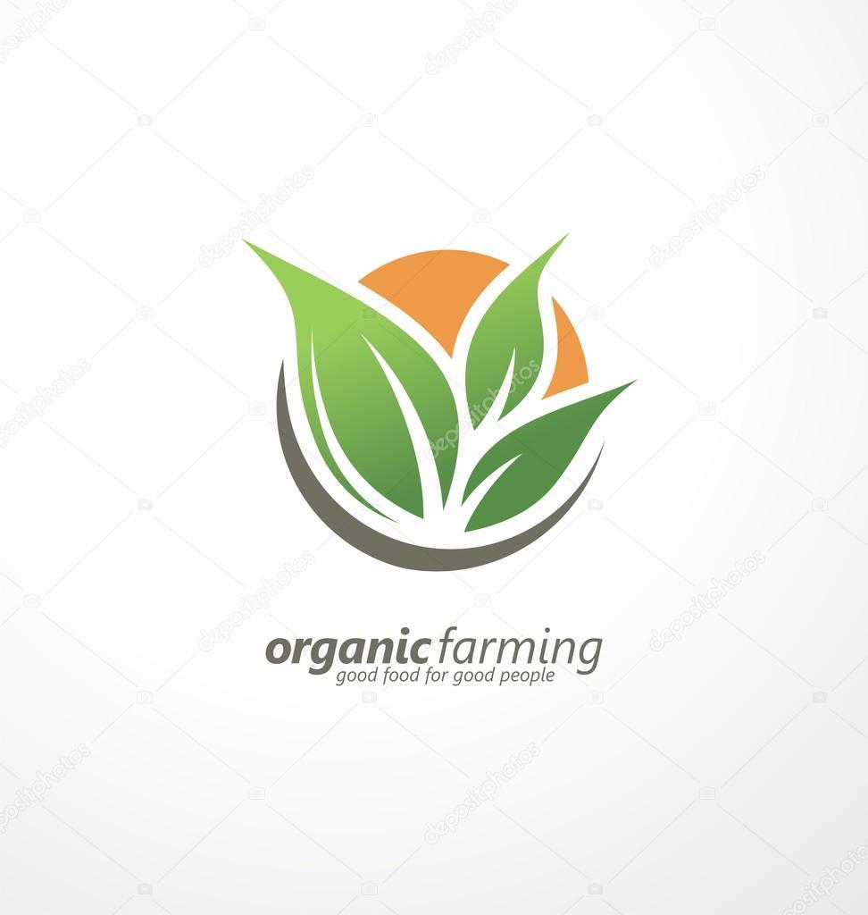 Idéia De Design De Logotipo De Agricultura Biológica U2014 Vetores De Stock  #96710068