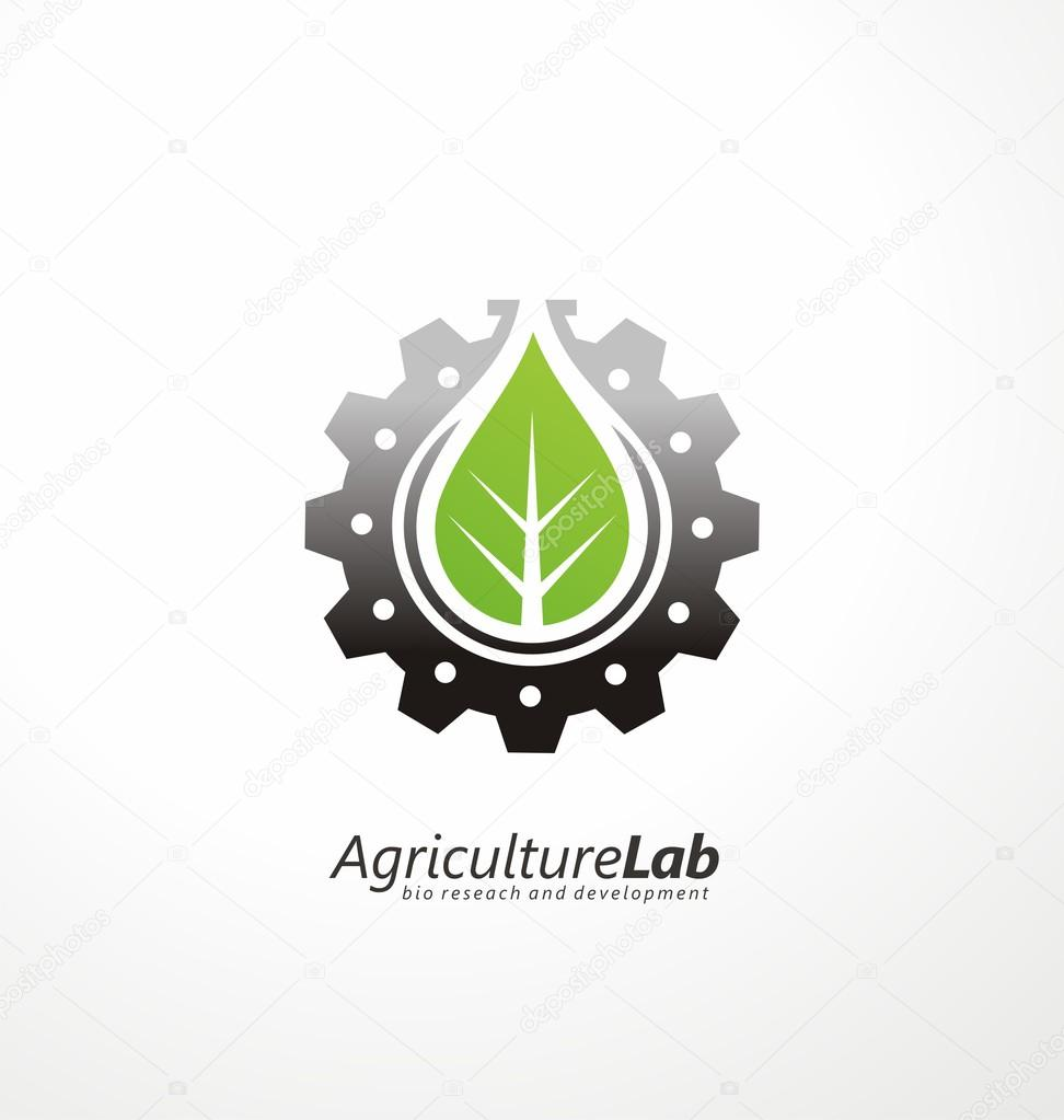 Modern agricultural technology logo design template