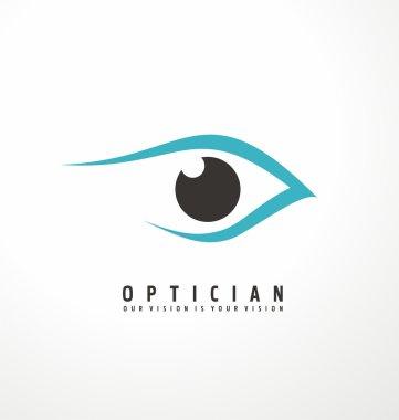 Eye vector logo design idea