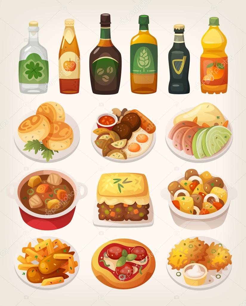 Traditional Irish cuisine dishes