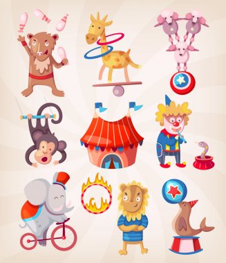 Circus animals doing tricks