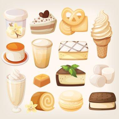 Vanilla flavor desserts