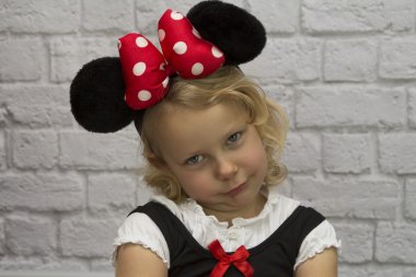 Small girl as a Minnie Mouse