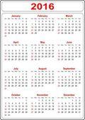 jednoduchý kalendář 2016