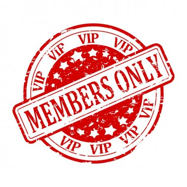 Red stamp - Members Only