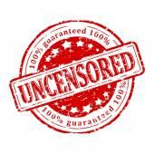 Photo Damaged round red stamp - uncensored