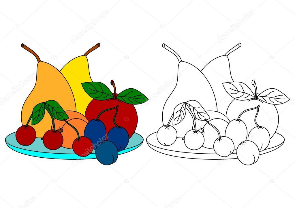 Fotografie Di Libri Da Colorare Per Bambini Frutta Colorata