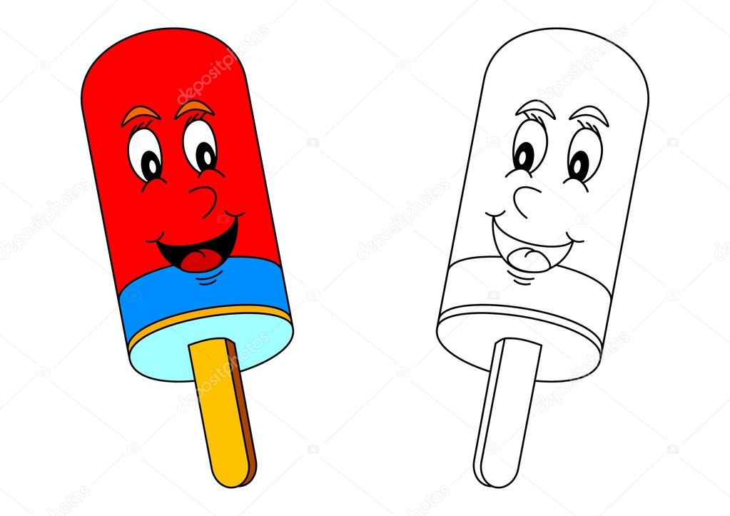 Sonrisa color Polo como un colorante para los niños pequeños — Fotos ...