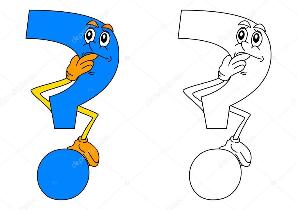 Pensamiento azul de signo de interrogación como un colorante para ...
