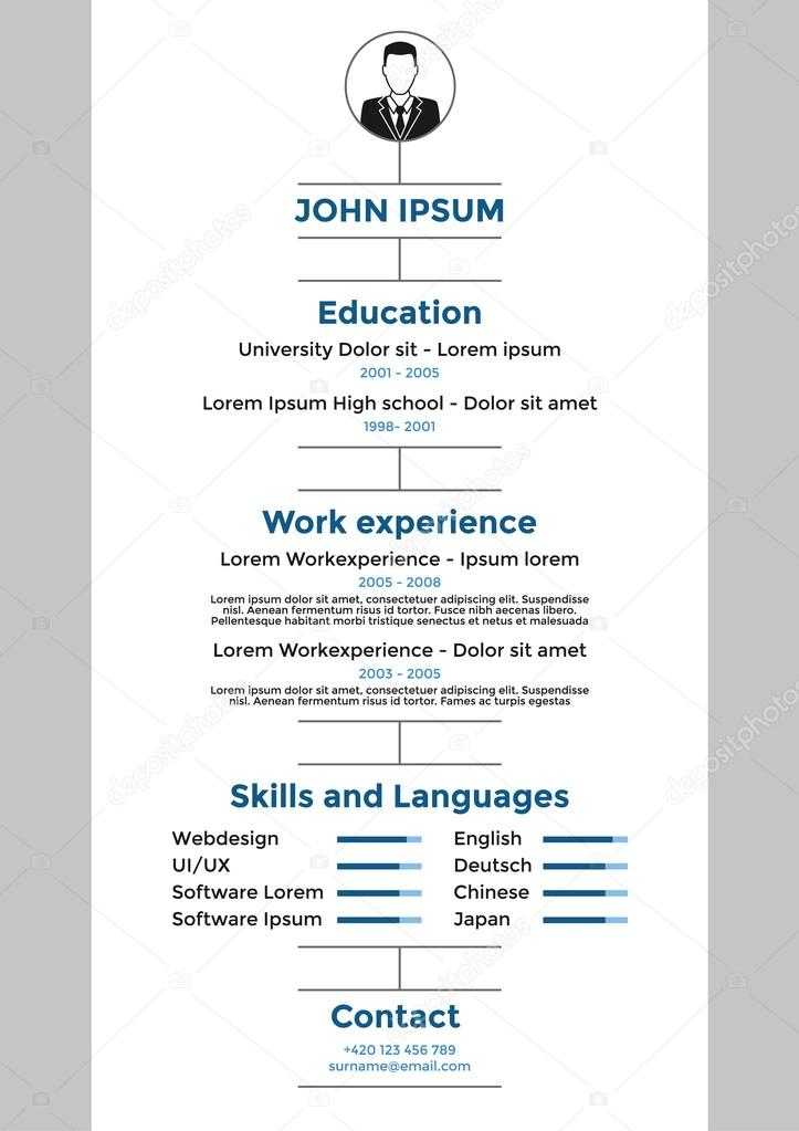 cv resume template vector graphic design layout vector by hollygraphic - Cv Or Resume