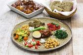 Fotografie ethiopian cuisine, one plate dinner