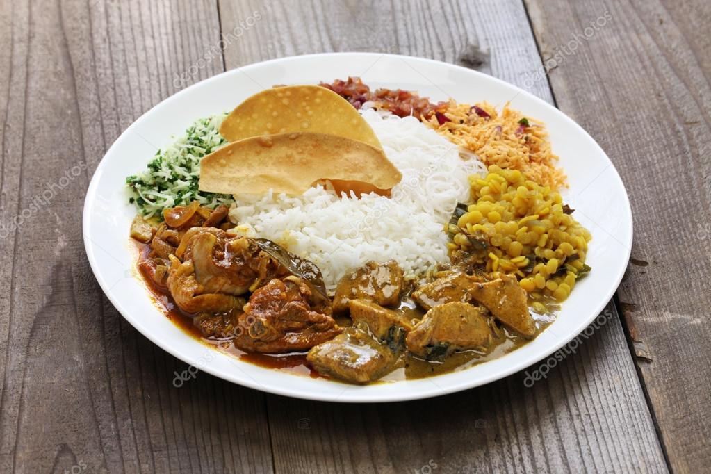lanka reis und curry-gericht ? stockfoto #114253764 - Sri Lanka Küche
