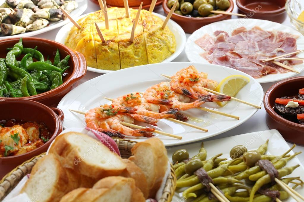 Spanish tapas bar food stock photo asimojet 51927335 for Cuisine bar tapas