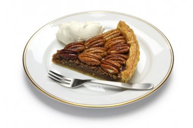 A slice of pecan pie