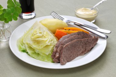 Corned beef and cabbage, st patrick's day dinner