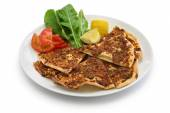 Photo lahmacun, turkish minced meat pizza