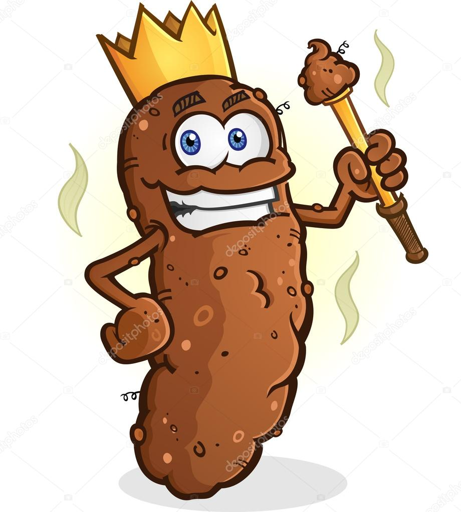 Poop King Cartoon Character