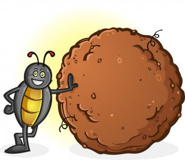 Dung Beetle with a Big Ball of Poop