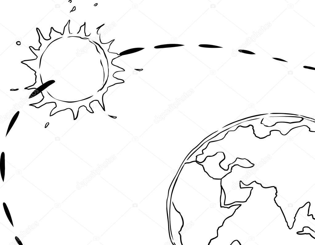 Esquemas Del Sistema Solar Para Niños Vista Geocéntrico