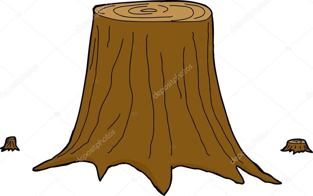 troncos de árboles aislados — Archivo Imágenes Vectoriales ...