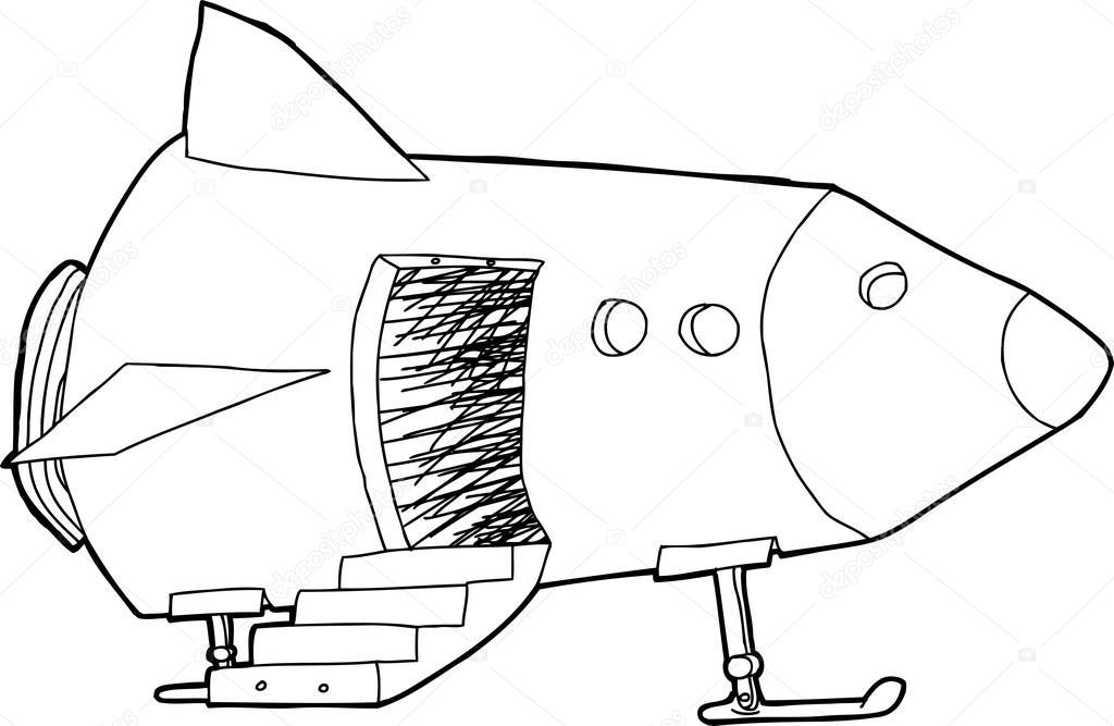 Porta aberta na nave espacial vetores de stock for Puerta nave espacial