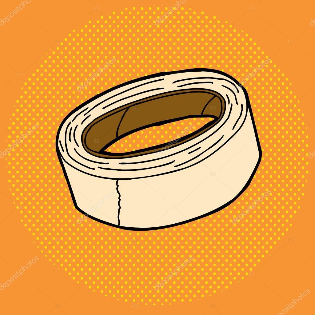 Rollo de cinta adhesiva vector de stock theblackrhino for Cinta de enmascarar