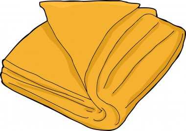Isolated Orange Towel