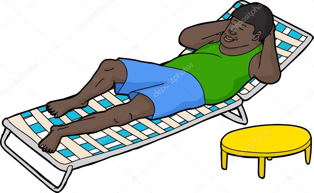 Mann und frau im liegestuhl clipart  Menschen, die Ruhe auf dem Liegestuhl — Stockvektor © theblackrhino ...