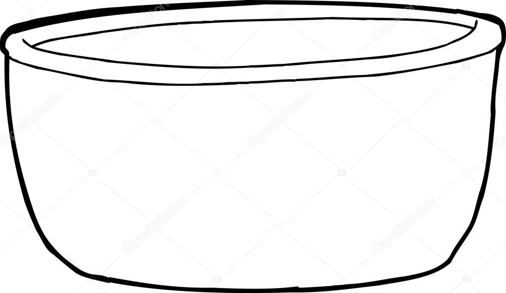 Schüssel clipart  Schüssel Gliederung — Stockvektor #63534593
