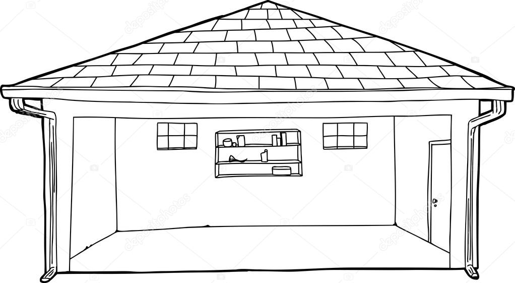 Dibujos Animados De Contorno Vac 237 O Garaje Archivo
