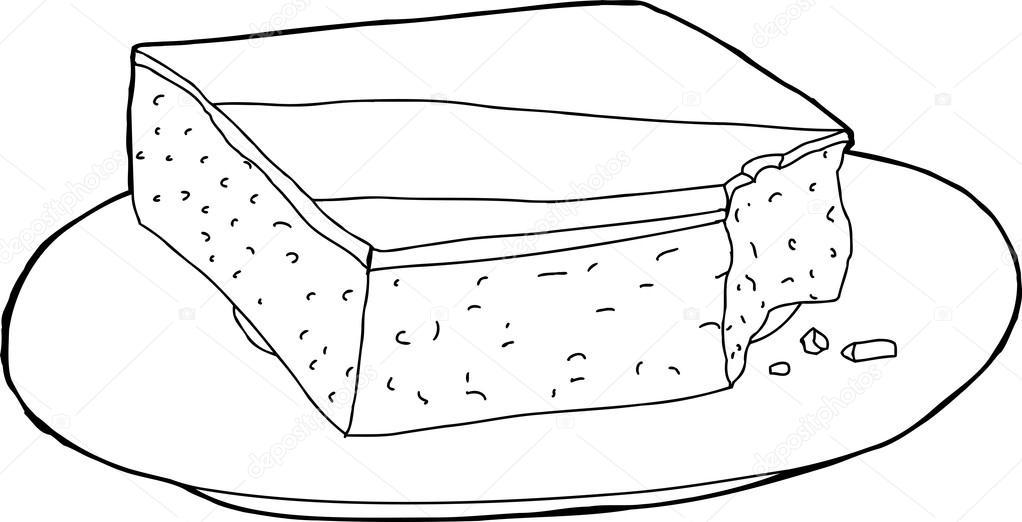 Dibujos: rebanadas de pastel para colorear | Esbozado la torta falta ...