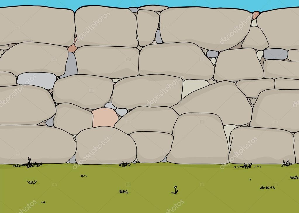 Muro De Piedra — Vector De