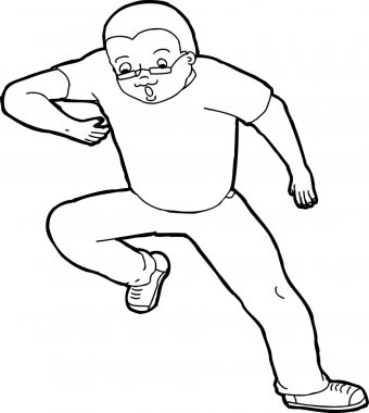 Outline of Man Tripping