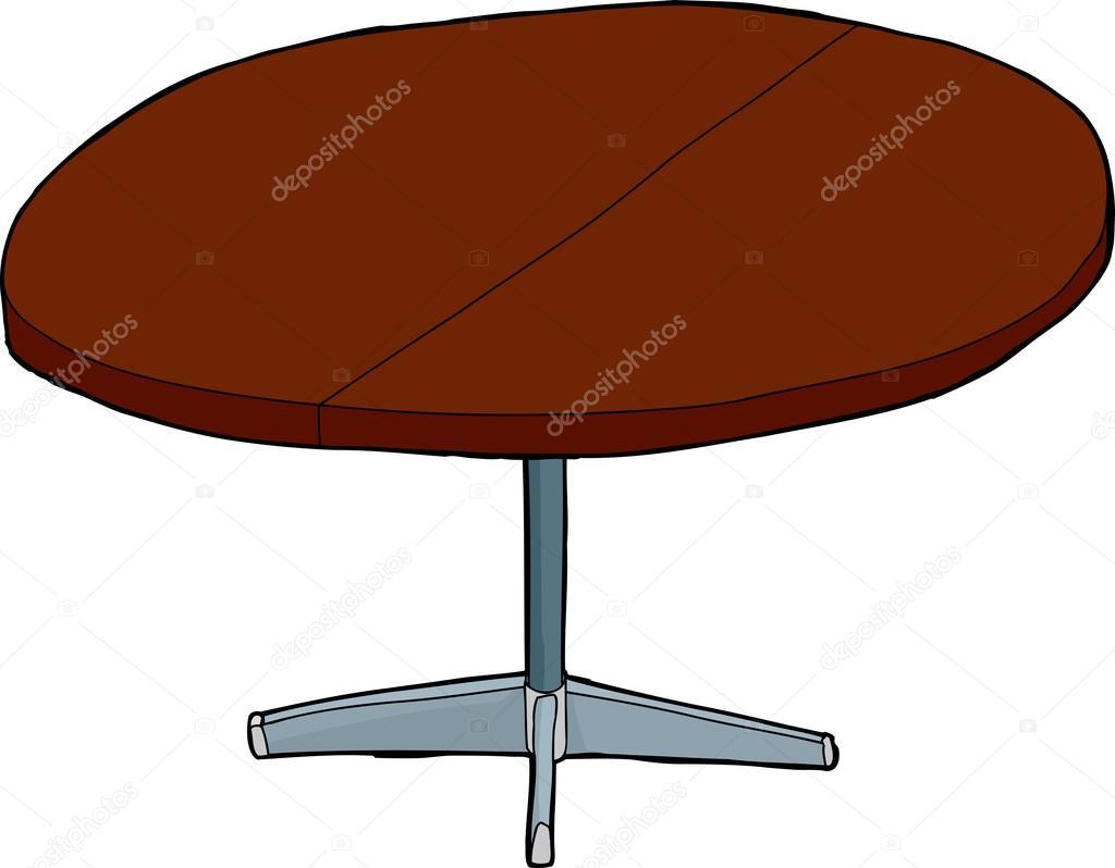 Einzigen Erweiterbaren Runder Tisch U2014 Stockvektor