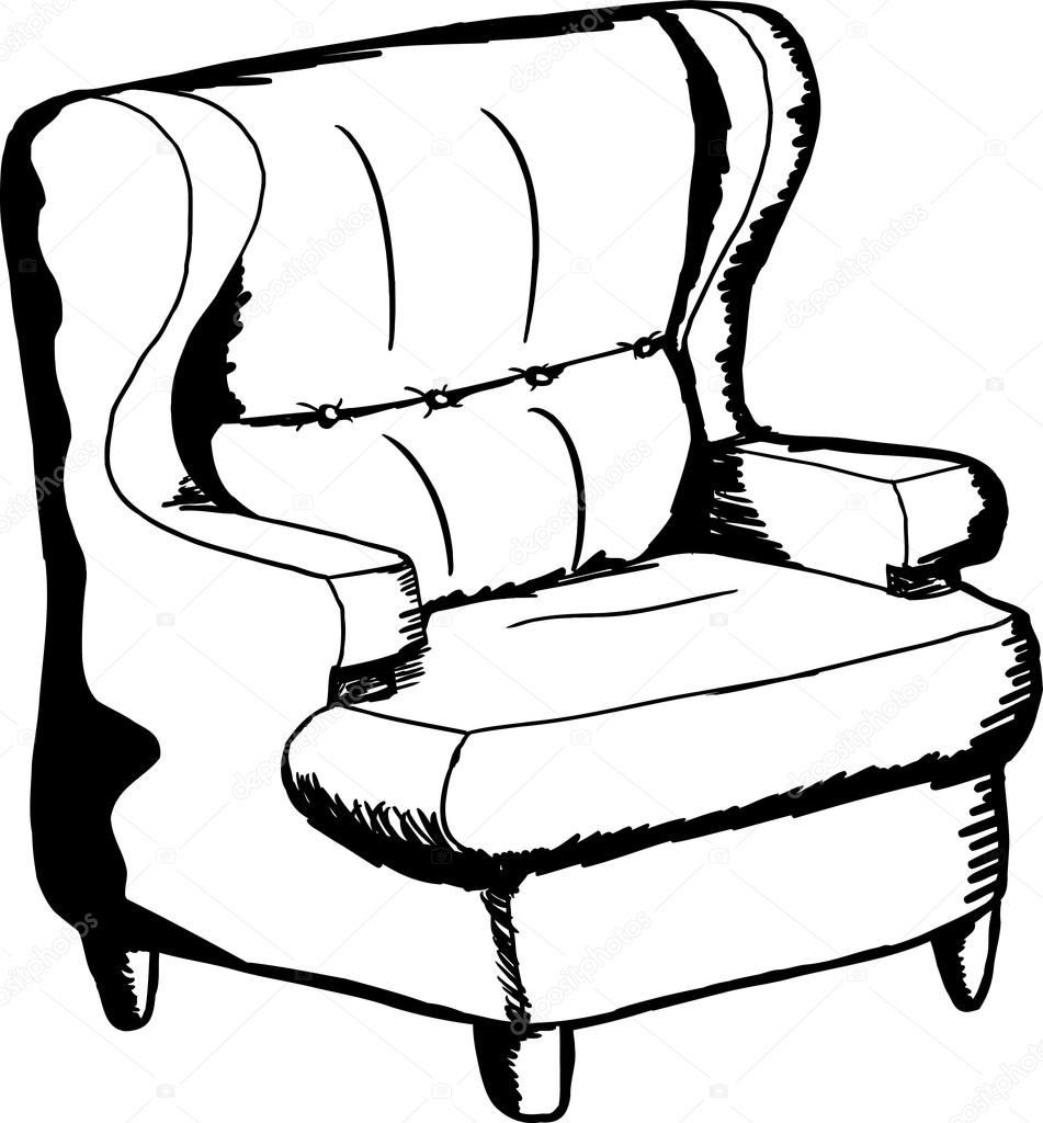 Outlined Sofa Chair Stock Vector C Theblackrhino 80654956