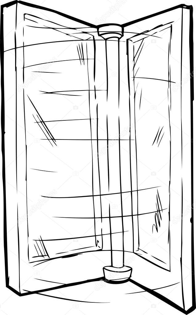 Outlined Spinning Door u2014 Stock Vector  sc 1 st  Depositphotos & Outlined Spinning Door u2014 Stock Vector © theblackrhino #94398636