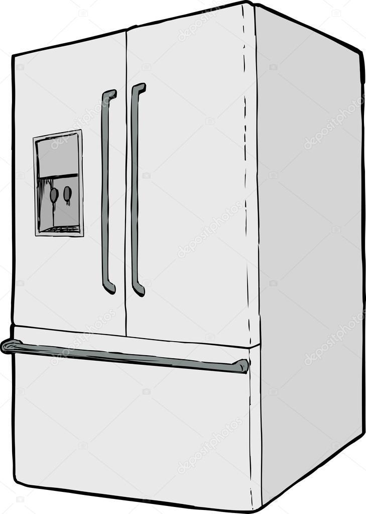 Einzigen Kühlschrank mit Wasserspender — Stockvektor © theblackrhino ...
